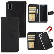 2 in 1 Magnet Abnehmbare Leder Brieftasche Fall Für iPhone 12 11 Pro XR XS Max Telefon Fall Magnet Abnehmbare retro Ultra Dünne Abdeckung
