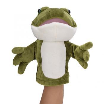 Słodkie zwierzaki żaba pacynki historia czas krótkie pluszowe zabawki lalki zabawki dla dzieci Muppets pluszowe maskotki dla dzieci prezent tanie i dobre opinie YOSOO none 3 lat Frog Hand Puppets Unisex Pacynka