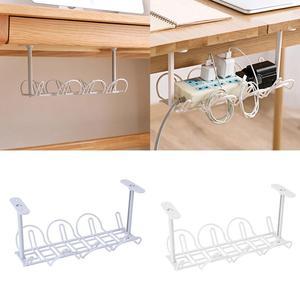 Полка для хранения, подвесная под настольной корзиной, подставка-держатель для кабеля