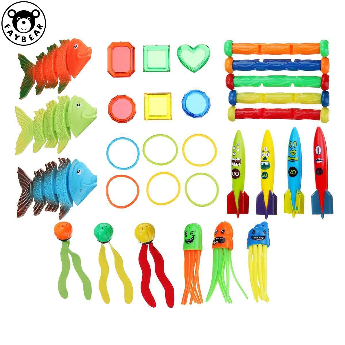 Летние игрушки для плавания в бассейне, подводные палочки для дайвинга, пляжные игрушки, водные виды спорта, игры, игрушки для детей, кольца