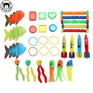Летняя игра в бассейн игрушки для подводного погружения рыбные палочки для дайвинга пляжная игрушка водные виды спорта игра игрушка для де...