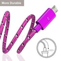 Nylon Geflochtene Micro USB Kabel 0,2 m/21m/2m Daten Sync USB Ladegerät Kabel Für Samsung HTC Huawei Xiaomi Android USB Telefon Kabel