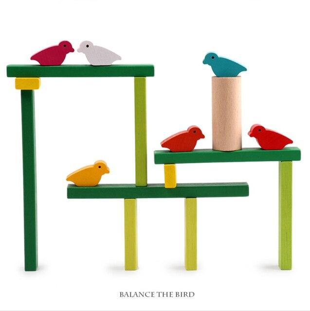עץ צעצועי איזון ציפור עץ ילדים צעצועי מסיבת משחקי צעצועים חינוכיים לילדים אינטראקציה ילדים צעצוע אבני בניין תינוק מתנה