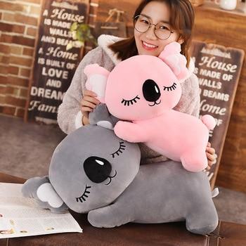 35-75cm pluszowe koala zabawki wypchanych zwierząt koala pluszowe poduszki poduszki duży rozmiar dla dzieci zabawki dla dzieci szary różowy prezent urodzinowy