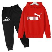 Novo outono e inverno crianças conjuntos hoodies + calças moda ternos do esporte camisolas casuais agasalho 2021 carta conjunto de roupas esportivas
