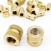 12mm Solid Brass Knurled Nuts Threaded Embedded Round Insert 210pcs M3 3mm