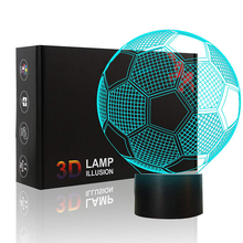 Soccer Ball Shaped Night Lights Colorful Lamp Football Sport Fans Gifts Club Bar World Cup Home Decoration Kids Birthday Gift