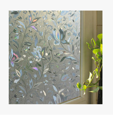 Htv Vinyl Self Adhesive Film Bathroom Window Stickers Frosted Door Window Film Privacy Cling Explosion-proof Opaque PVC Film