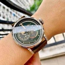 Мужские часы в стиле милитари с ремешком из натуральной кожи