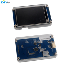 Nextion Basic NX4832T035 3.5'' UART HMI Smart LCD Module Display with Acrylic Clear Case for Arduino Raspberry Pi  ESP8266 nextion 4 3 tft 480x272 nx4827t043 hmi resistive touch screen uart smart display module for arduino raspberry pi esp8266