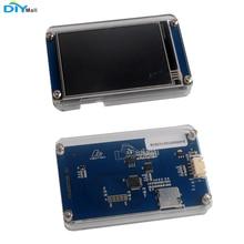 "Nextion basic nx4832t035 arduino raspberry pi esp8266 용 아크릴 클리어 케이스가있는 3.5 ""uart hmi 스마트 lcd 모듈 디스플레이"