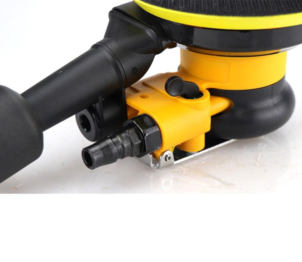 Tools : Pneumatic Sander Polisher with Vacuuming 5   125mm Car Paint Care Tool Polish Random Orbital Palm Machine Grinder M8 Threaded
