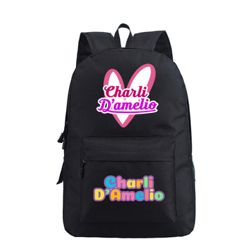 School Bags for Teenage Girls Charli Damelio Backpack Women Mochilas Escolares Bookbag Laptop Back Pack Men Kawaii Backpack Kids 11