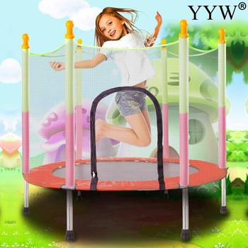 Mini 54 Inch Indoor Trampoline With Protection Net Baby Children Jumping Child Fitness Exercise Trampoline Home Toys Jumping Bed tanie i dobre opinie Dziecko Ochronne netto wyposażone 54 cal 20042002252668508