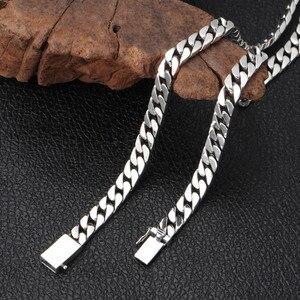 Image 5 - V. Ya 100% 925 Sterling Zilveren Ketting Voor Mannen Thai Zilveren Punk Ketting Voor Vrouwen 8Mm Wideth Zilveren Sieraden 55cm 60Cm