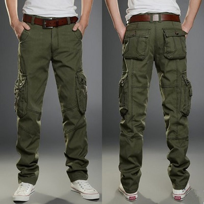 Summer Multi-pockets Casual Pants Men's Loose-Fit Bib Overall MEN'S Trousers Straight-Cut Camouflage Work Pants Large Size Unifo