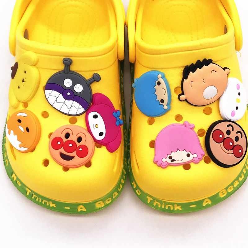 1Pcs การ์ตูน Super ขนมปัง Super Man Melody PVC รองเท้า Charms หัวเข็มขัด Fit Bands สร้อยข้อมือ Croc Jibz รองเท้าเด็กของขวัญ