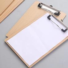 A4 Размер Деревянный планшет клип доска офисные школьные канцелярские принадлежности с подвесным отверстием