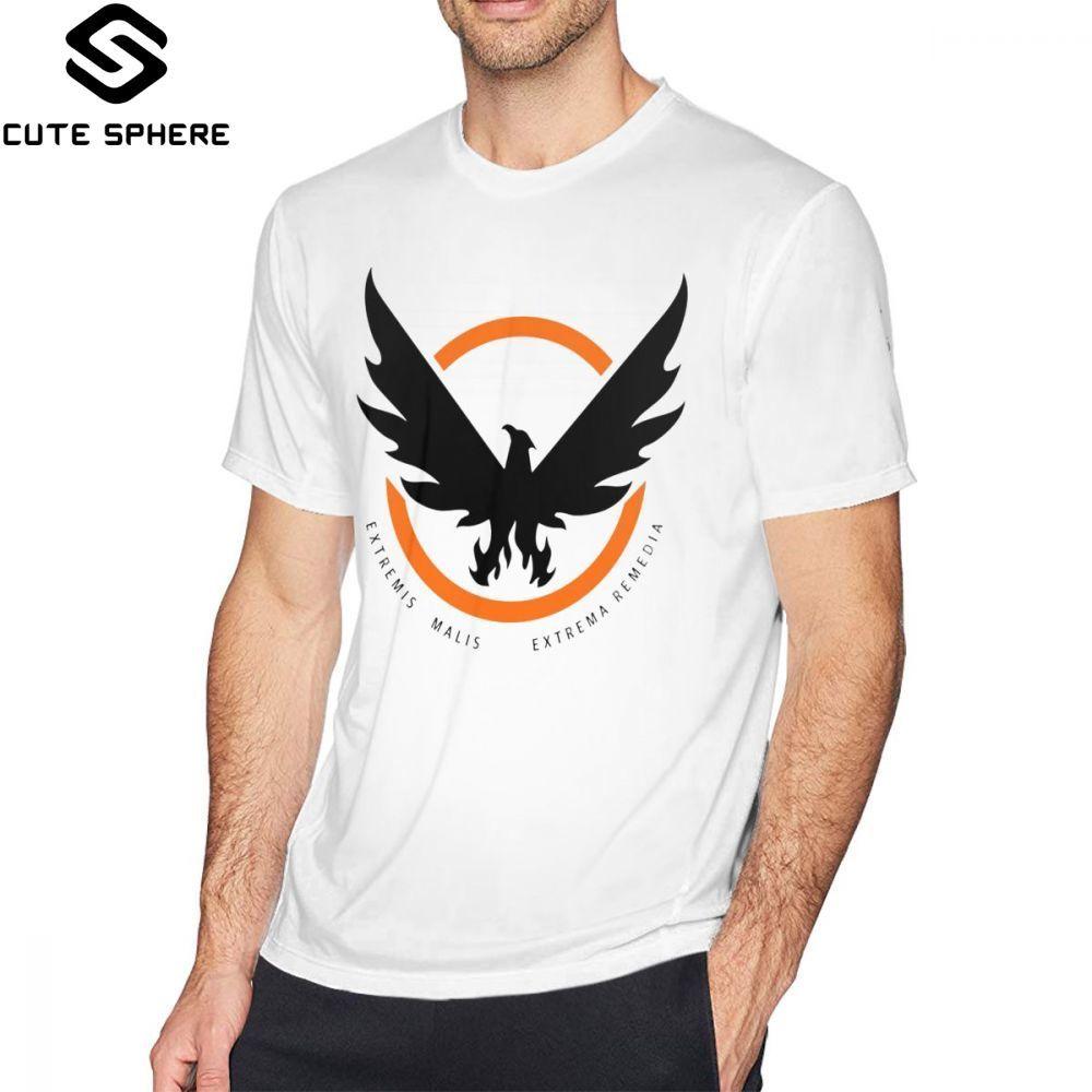 Tom Clancy S The Division T Shirt The Division 2 SHD Logo T-Shirt Short-Sleeve Cute Tee Shirt Basic 100 Percent Cotton Tshirt