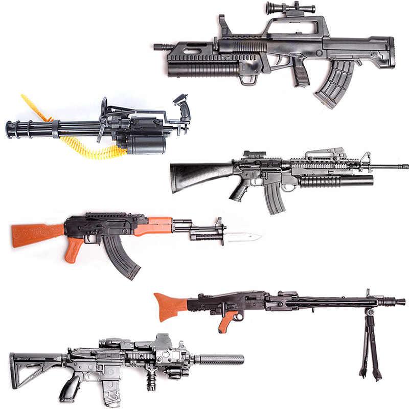 1/6 مقياس 12 بوصة شخصيات الحركة الملحقات MG42 98k Rpg AK47 رشاش ثقيل لتقوم بها بنفسك نموذج العسكرية اللعب هدية
