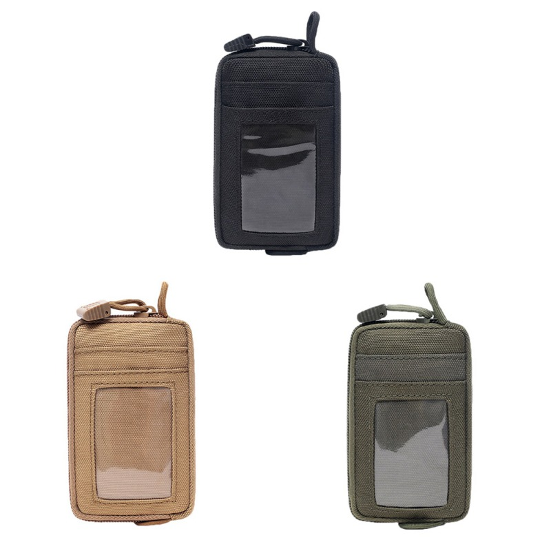 Waterproof Tactical Portable Pouch Key Purse Wallet Coin Pack Card Slot Waist Belt Bag With Carabiner Hunting Travel Kit