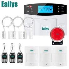 Sem fio/com fio gsm voz de segurança em casa sistema de alarme do assaltante discagem automática discador sms chamada ajuste controle remoto