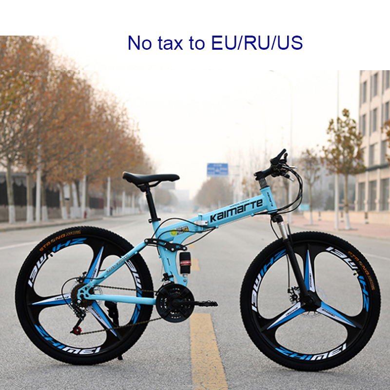 26 дюймов складной горный велосипед 6 ножей колеса и 3 ножа колеса Горный велосипед 21 Скорость Двойные дисковые тормоза велосипеда|Велосипед|   | АлиЭкспресс