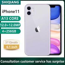 Used Original Unlock Apple iphone 11 Smartphones 6.1inch  4+64/128/256GB Front12 Rear12MP Cellphone 1SIM 2SIM Card Smartphones