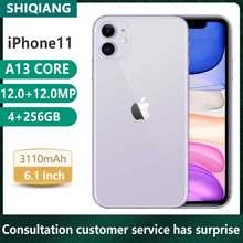 Używane oryginalne odblokowanie Apple iphone 11 smartfony 6.1 cala 4 + 64/128/256GB Front12 Rear12MP telefon komórkowy 1SIM 2SIM karty smartfony