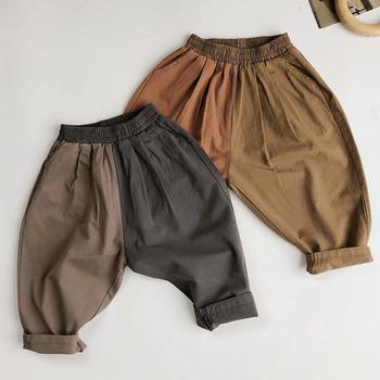 Wiosna jesień dzieci Boys Baby dziewczyny luźne spodnie odzież dziecięca wspólne rzepy spodnie swobodne spodnie Boys Baby dziewczyny spodnie dla dzieci tanie i dobre opinie YSUBEST Na co dzień Pasuje mniejszy niż zwykle proszę sprawdzić ten sklep jest dobór informacji Elastyczny pas Unisex