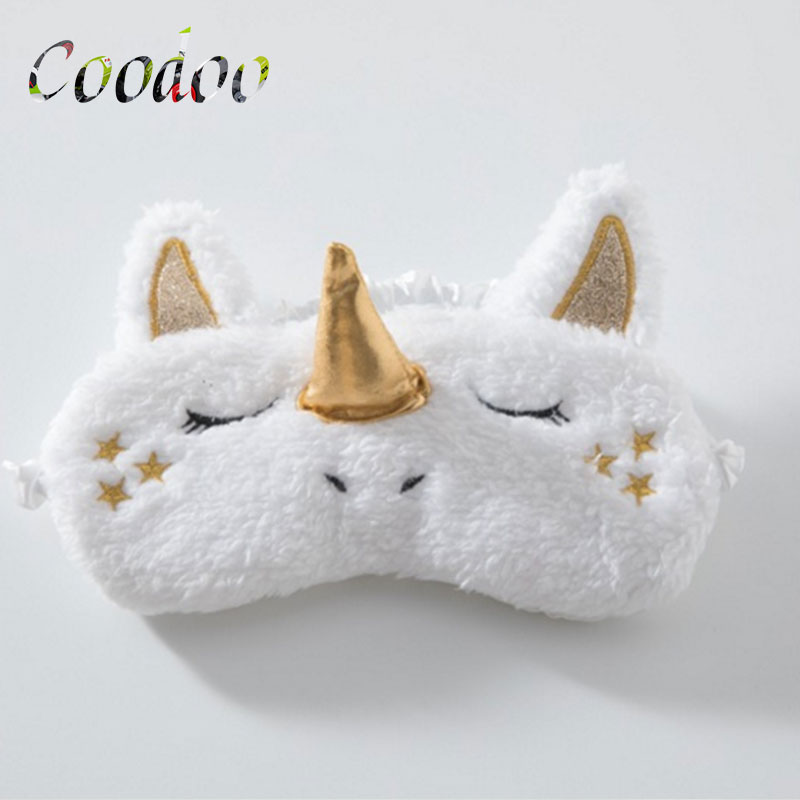 Unicorn Eye Mask Deer Plush Sleeping Eye Mask Furry Blindfold Gold Silver Nose Sleep Eye Mask Stuffed & Plush Animals