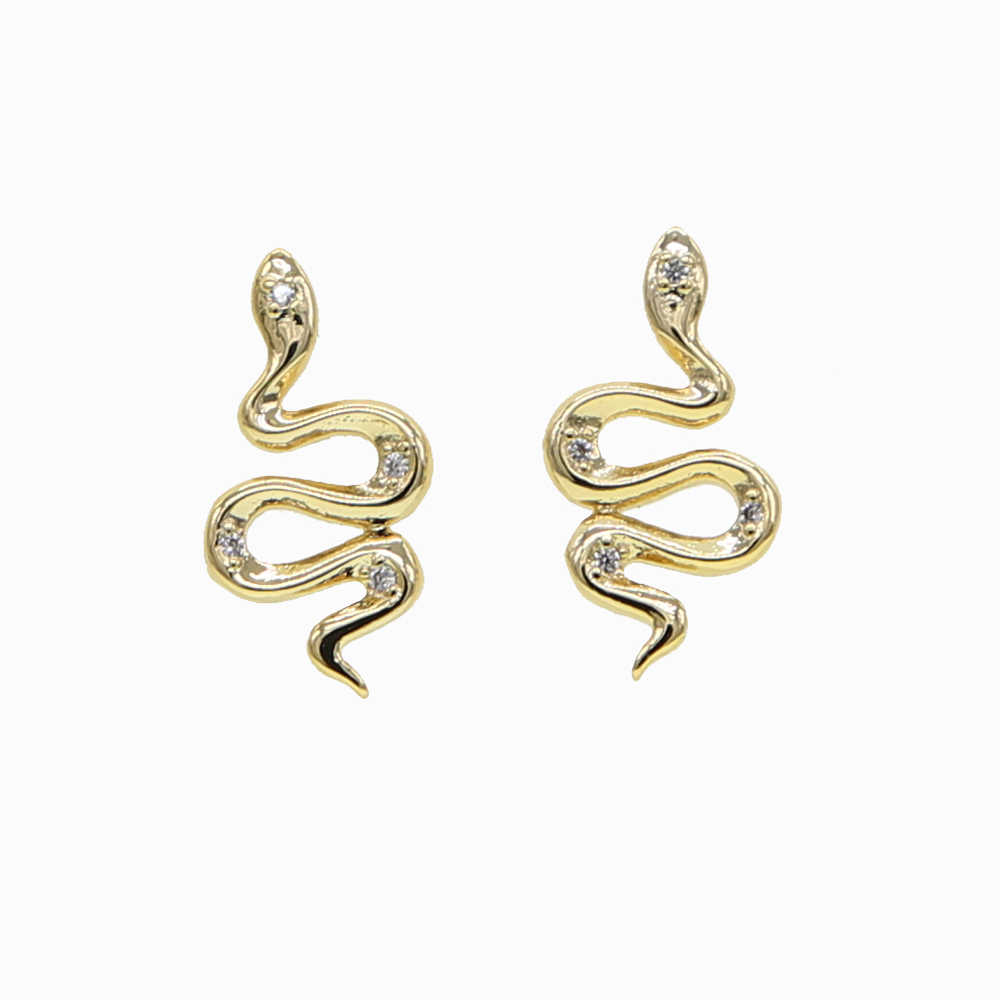 Kolczyki Fashion Woman 2019 Metal Gold Snake stadniny kolczyki dla kobiet złoty kryształ spersonalizowane Pokemon biżuteria dla zwierząt