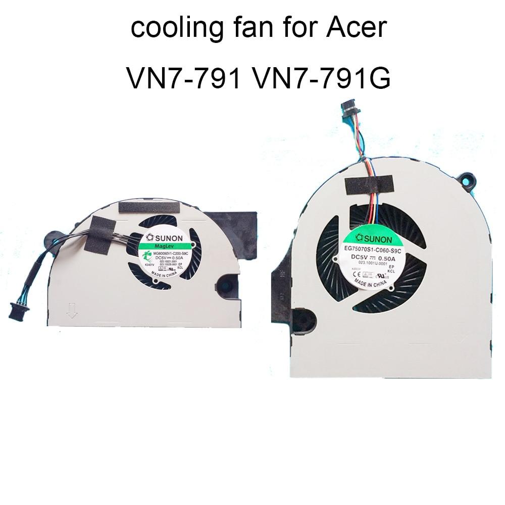 Компьютерные вентиляторы для Acer V деталь нитро-двигателя Himoto Redcat Aspire VN7-791 VN7-791G Процессор Вентилятор охлаждения ноутбуки охладитель Radiato 4 pin ...