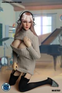 Image 3 - 1/6 בקנה מידה ילדה ראש לפסל סקסי קוספליי בגדי סט SET037 עבור 12 סנטימטרים נשי TBLeague גדול שד גוף פעולה איור