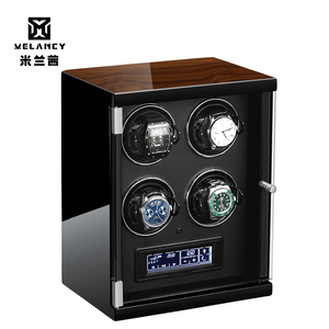 Image 5 - New Wood Watch Winder For Watches Black Piano Paint Automatic Self Watch Winders Wooden And PU Leather Watch Accessories