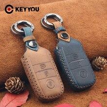 KEYYOU cuir voiture clé étui protecteur pour Kia Ceed Rio Sportage R K3 K4 K5 Ceed Sorento Cerato Optima 2015 2016 2017 clé couverture