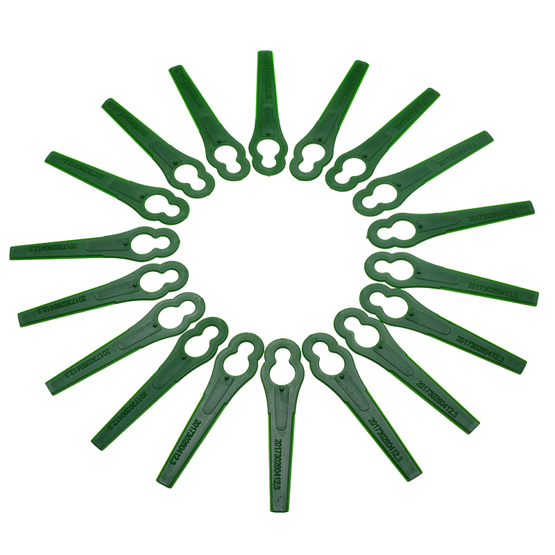 100Pcs Grass Trimmer Plastic Blade Plastic Mower Cutting Blades For Strimmer Grass Trimmer Lawn Mower