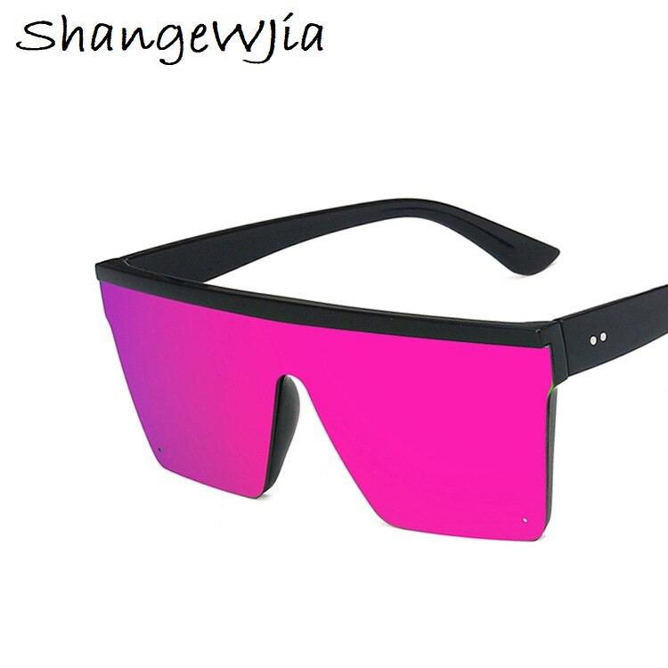 Top Sale2020 Square Sunglasses Women Luxury Vintage Brand Design Sun glasses Big Frame Mirror Red Purple Eyewear UV400