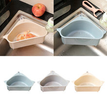Multifunctional Corner Sink Drain Rack Shelf Suction Cup Sink Drain Basket Bowl Sponge Holder Kitchen Bathroom Storage Organizer cheap CN(Origin) Kitchen Sink Drainer Kitchen Storage Rack Free-Punch beige blue grey
