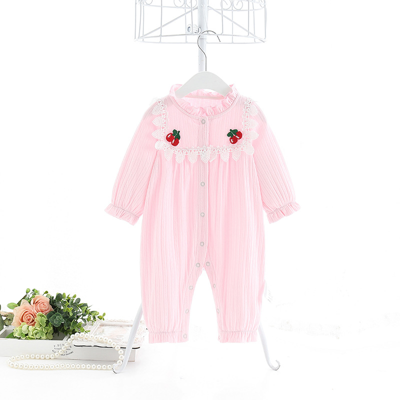 Newborn Toddlers Baby Boys Girls Clothes Button Romper Long Sleeve Cotton Toddler  Romper Kids Jumpsuit Infant Playsuit