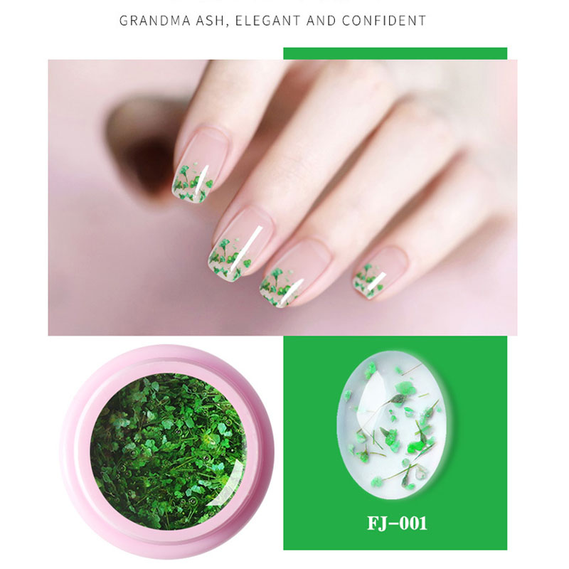1 Box Dried flowers glue 8ml Led Gel Soak Off Nail Gel Lacquer Shiny Sequins Decorations UV Gel Varnish Painting Flowers in Nail Gel from Beauty Health