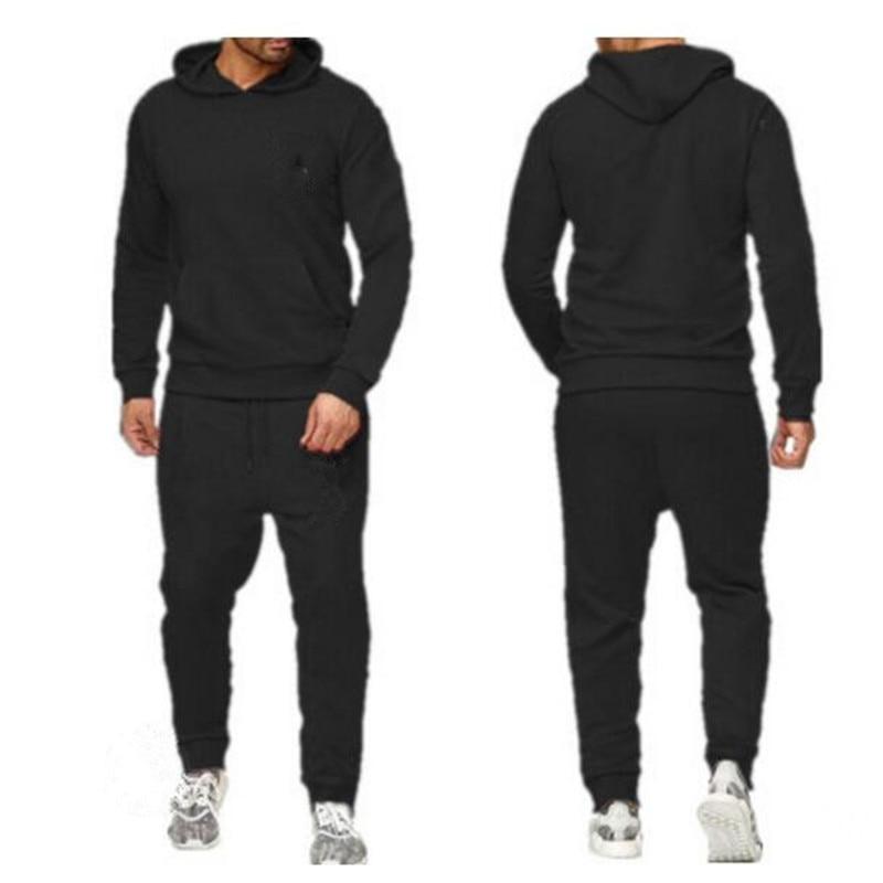 2020 Men's 2 Sets Of New Fashion Jacket Men's Sportswear Hoodies Autumn And Winter Brand Men's Tracksuit Hoodies Sweatpants