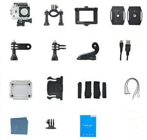 Image 5 - Caméra vidéo daction sportive 4K étanche grand Angle de vue vélo caméras extérieures DJA99