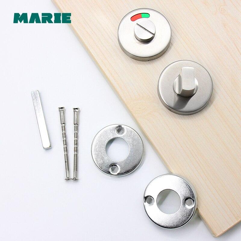Bathroom Hardware Fittings Toilet Cubicles Indicator WC Door Lock Thumb Turn Knob Stainless Steel
