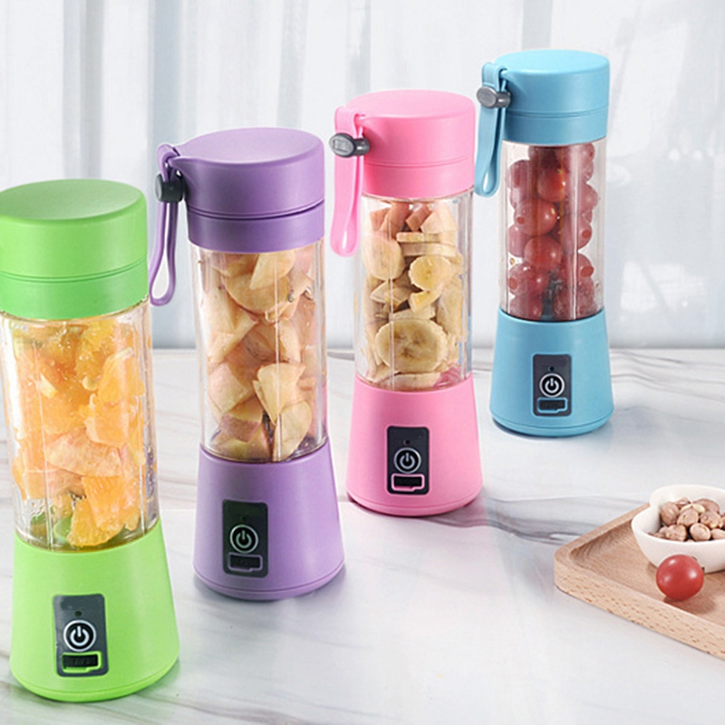 380Ml Mini Usb Rechargeable Portable Electric Fruit Juicer Smoothie Maker Blender Machine Sports Bottle 4 Sharp Blades Fruit Mix in Juicers from Home Appliances