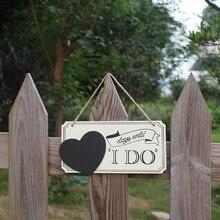 Элегантные праздничные украшения свадебные принадлежности дверная пластина деревенская резьба день рождения ремесло деревянное украшение помолвочный подвесной кулон