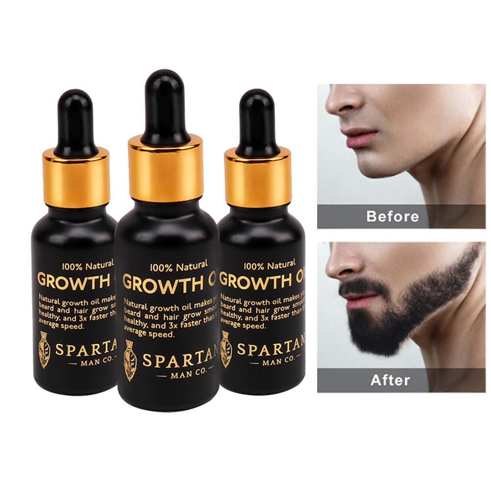 Professional Men Beard Growth Oil Kit Enhancer Facial Nutrition Moustache Grow Beard Shaping Tool Conditioner Beard care product image
