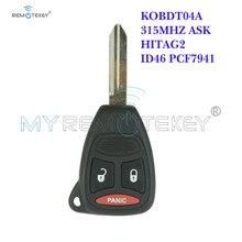 Remtekey remote head key 3 button KOBDT04A 315mhz for Dodge Dakota Durango Charger for Chrysler 300 for Jeep Grand Cherokee throttle position sensor for jeep cherokee wrangler tj dodge dakota viper 4874371ab tps324 4874371ac