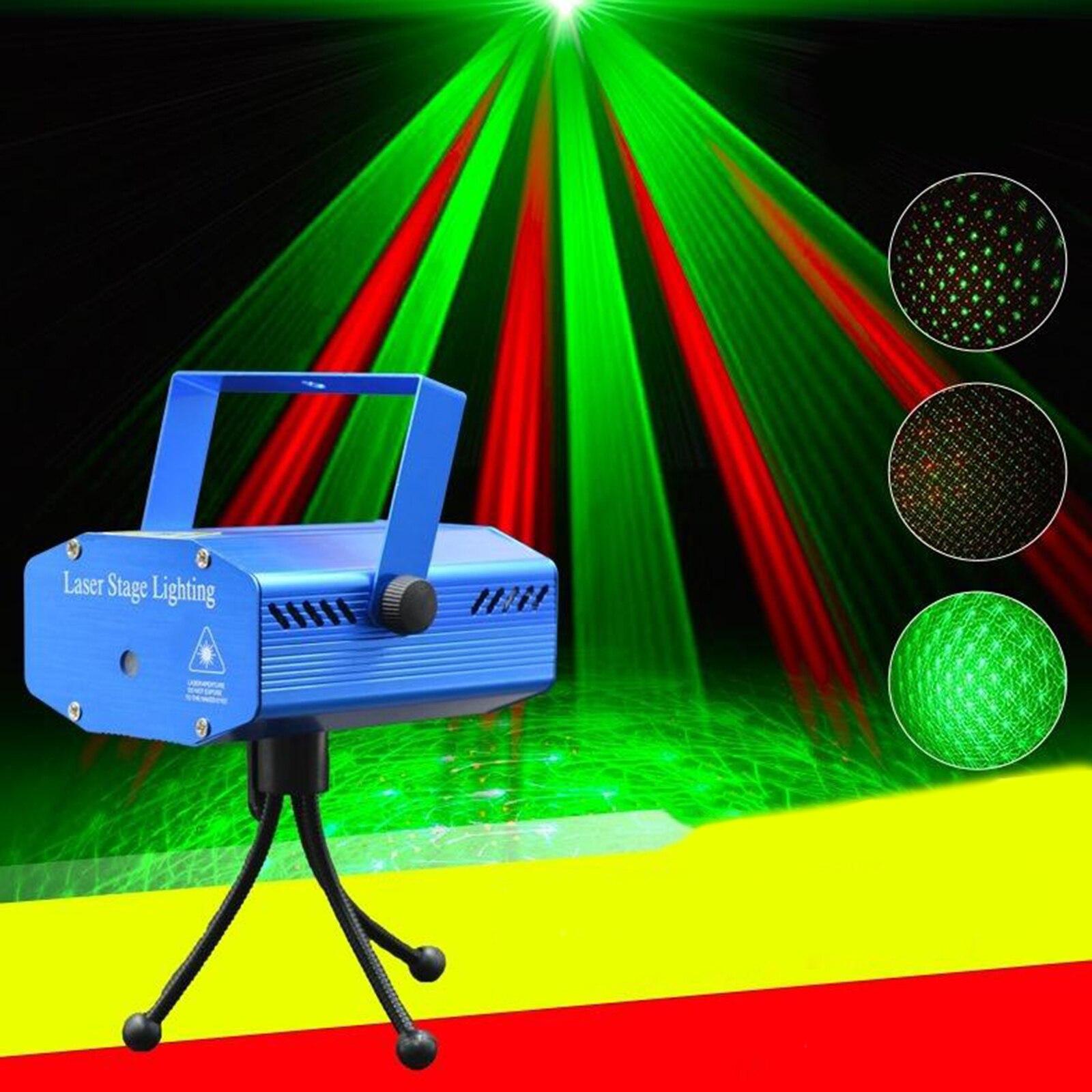 MINI projecteur détoiles complet R & G, DJ danse Disco Bar fête spectacle de lumière deffet de scène