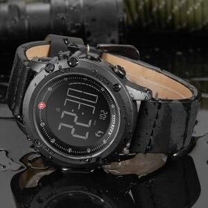 Image 4 - K698 kademan スポーツメンズ腕時計ステップカウンター革トップ高級ブランドの led メンズミリタリー腕時計レロジオデジタル防水